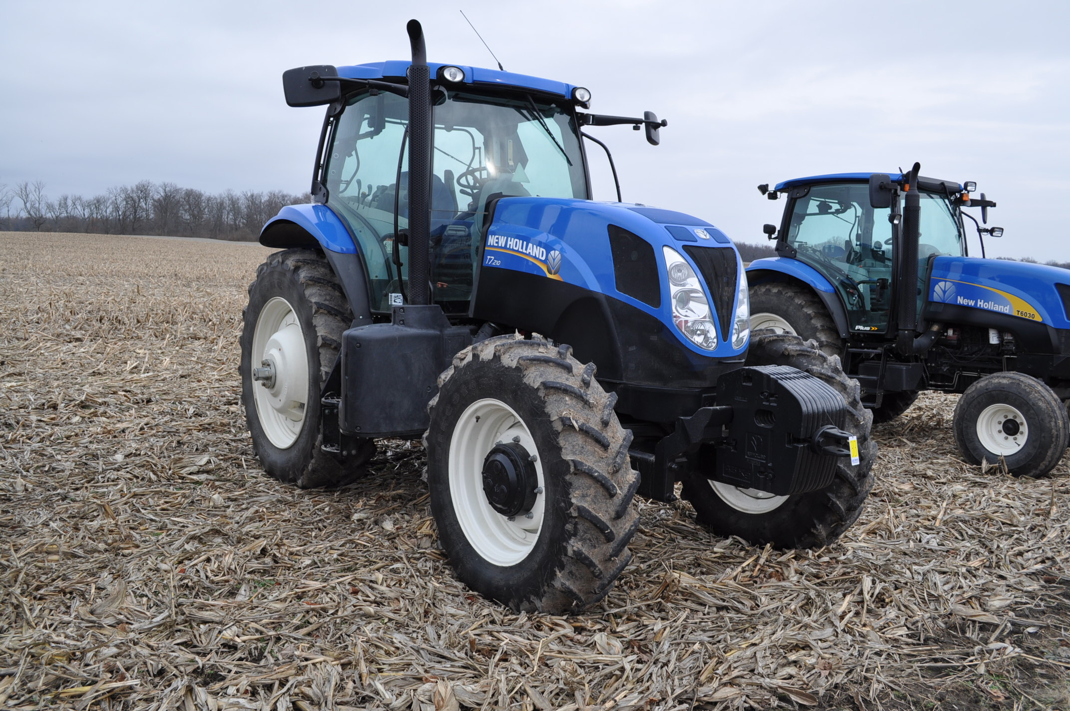 New Holland T7.210 MFWD tractor, 460/85 R 42 rear, 380/85 R 30 Firestone front, Super Steer - Image 4 of 24