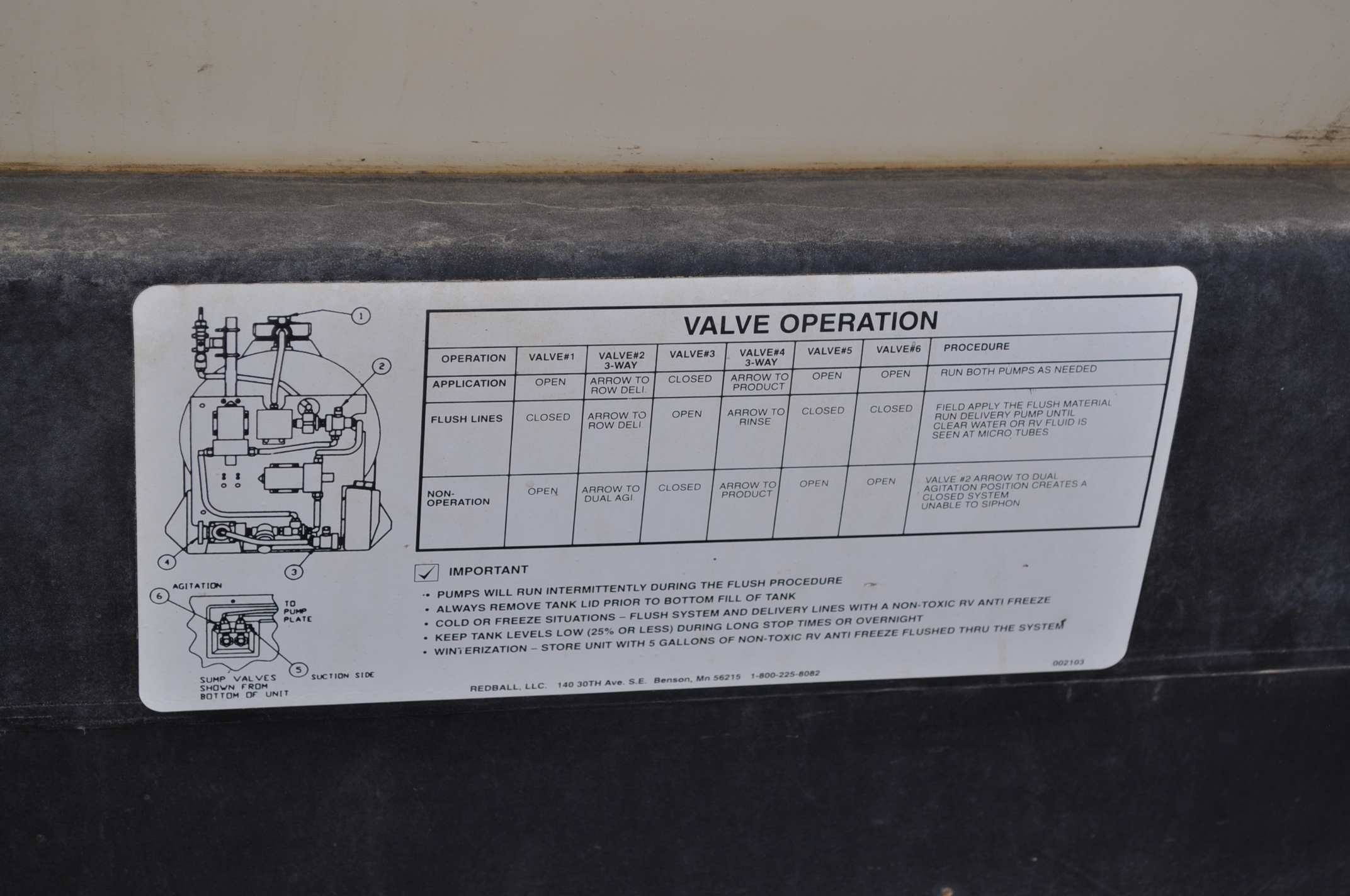 Redball 110 gallon poly tankw/ 12 volt pump, 3 pt. - Image 10 of 10