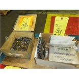 LOT CONSISTING OF carbide inserts, (used), (1) box, cut-off blades & key seat cutters, (new), (1)