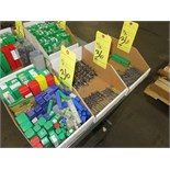 LOT OF DRILL BITS, (3) boxes, assorted