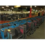 LOT OF MATERIAL TRANSPORT CARTS, STEEL, (49)