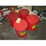 LOT OF WASTE CANS, oily (4)
