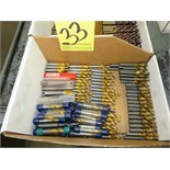 LOT OF CARBIDE STEP DRILLS, (1) box, assorted