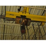 ELECTRIC CHAIN HOIST, COFFING, 1/4 T.cap., 20' rail w/2 T. cap.