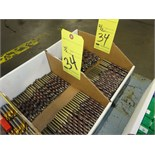 LOT OF DRILL BITS, (2) boxes, assorted