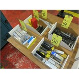 LOT CONSISTING OF, insert type tool holders, cut-off holders, knurling tool, (5) boxes, assorted