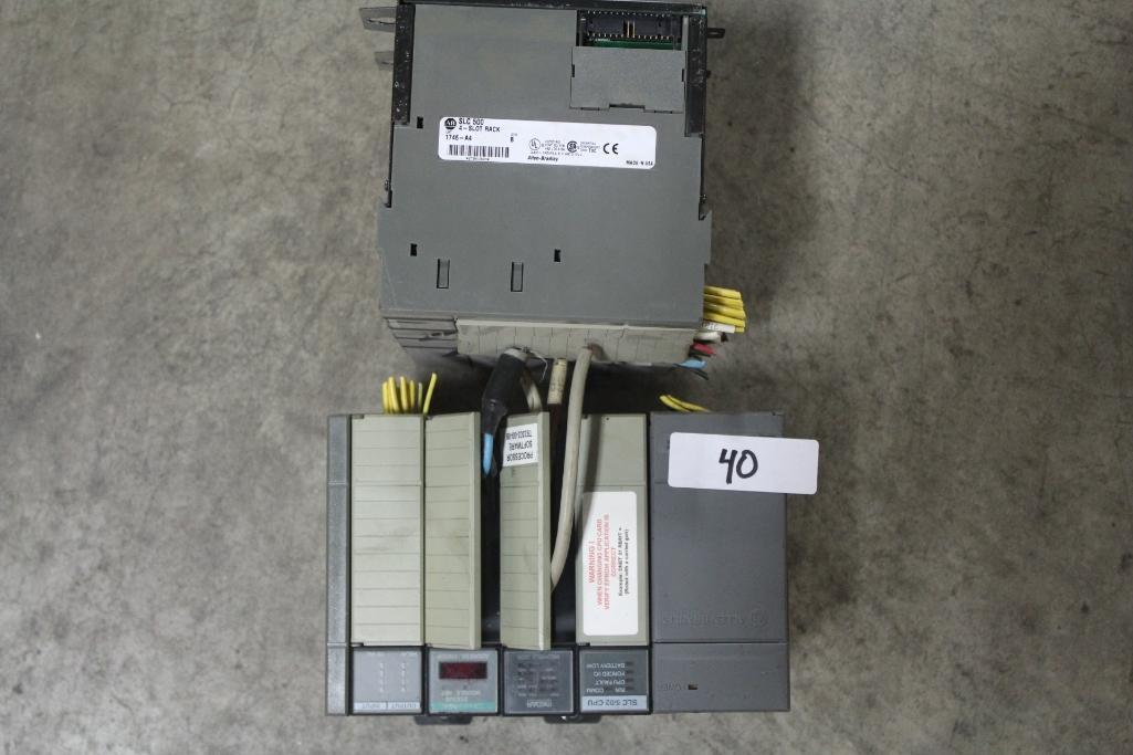 (Lot of 2) Allen-Bradley 1746 Racks w/ P1 Power Supply & Processor 1747-L524
