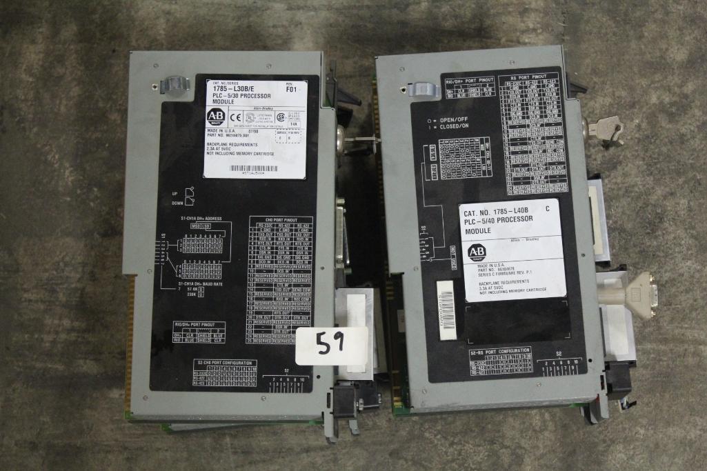 (Lot of 4) Allen-Bradley PLC Processor Module
