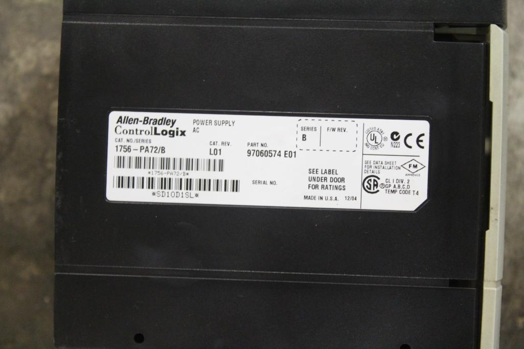 (Lot of 2) Allen-Bradley Power Supplies 1756-PB75/B & 1756-PA72/B - Image 2 of 2