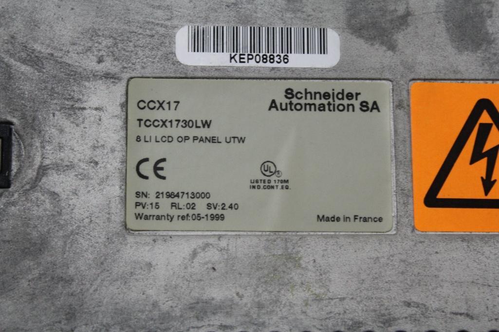 (Lot of 2) Telemecanique Modicon TCCX1730LW Panel - Image 2 of 2