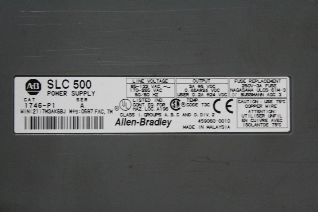 (Lot of 2) Allen-Bradley 1746 Racks w/ P1 Power Supply & Processor 1747-L524 - Image 2 of 2