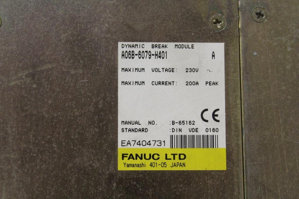 (Lot of 5) Fanuc A06B-6079-H401 Dynamic Brake Modules - Image 2 of 2