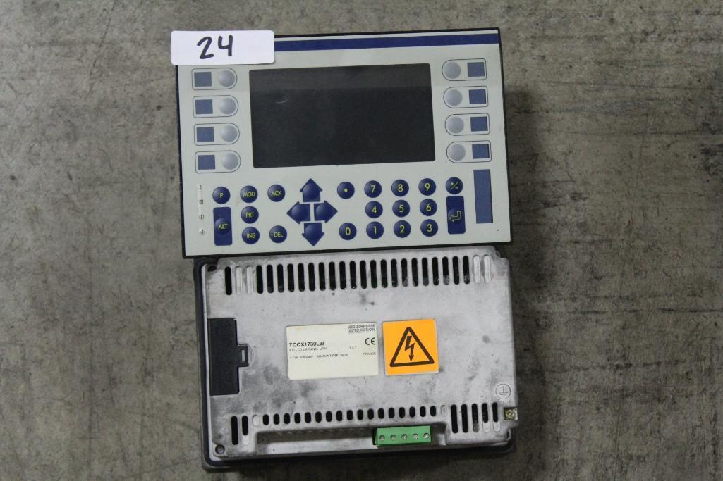 (Lot of 2) Telemecanique Modicon TCCX1730LW Panel