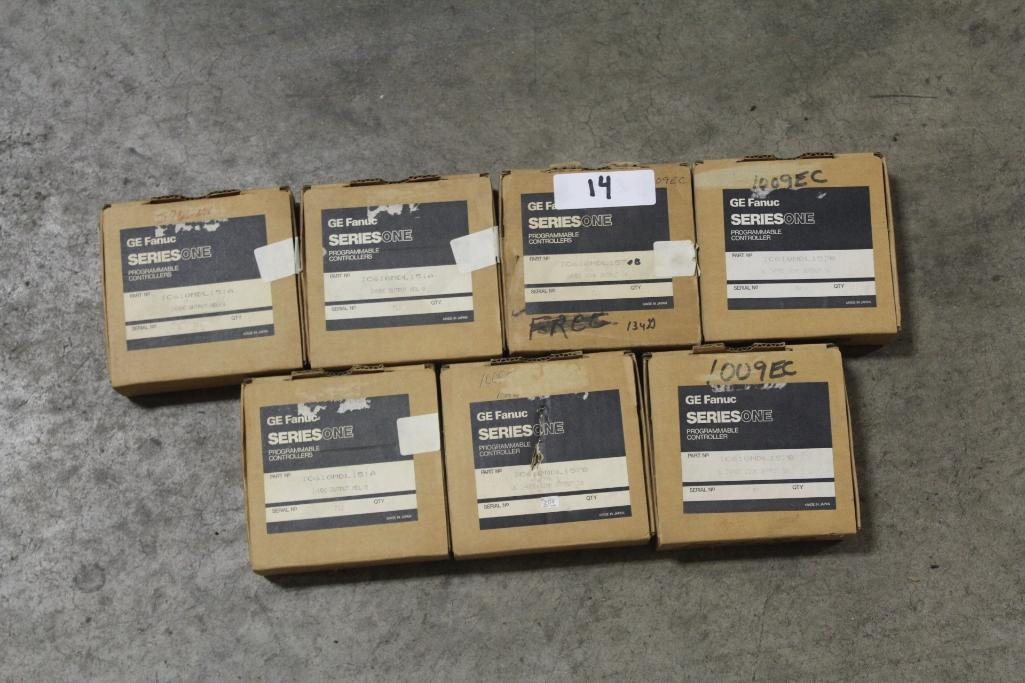 (Lot of 7) Fanuc Programmable Controllers; IC610MDL157B (4), IC610MDL151A (3)