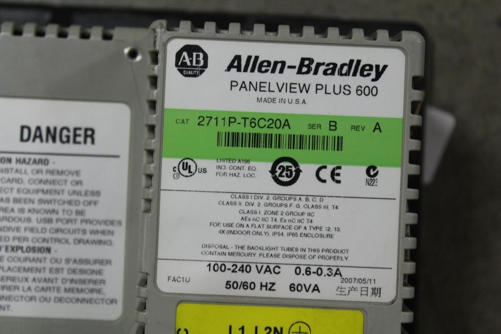 Allen-Bradley 2711P-T6C20A (cosmetic damage to case) - Image 2 of 2