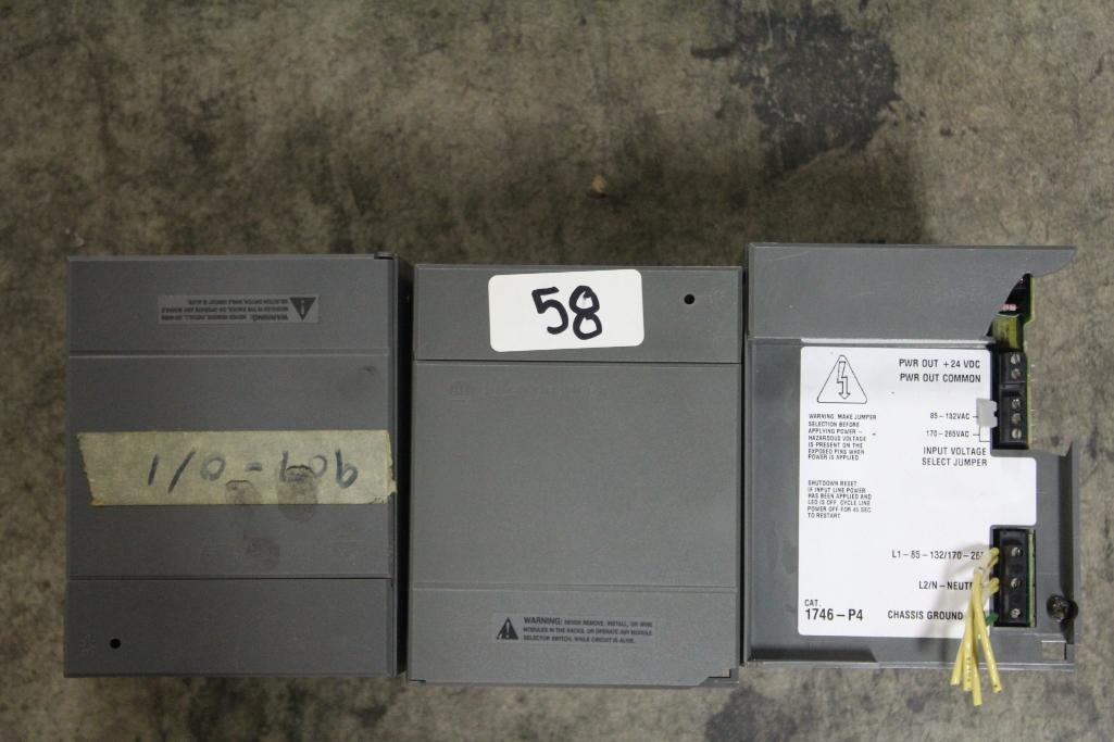 (Lot of 3) Allen-Bradley 1746-P4 Power Supply (cosmetic damage to case)