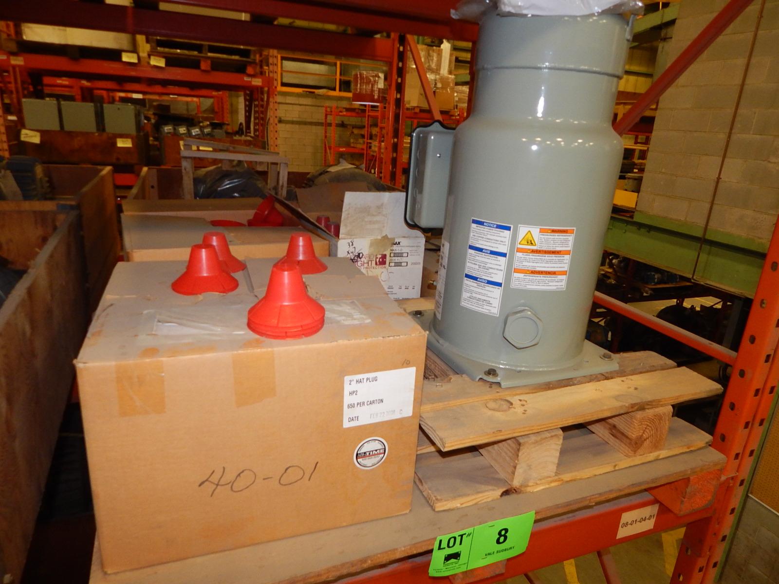 LOT/ COMPRESSOR AND PLASTIC PLUGS (CMD)