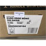 500MM EURO EDGE MONO RESIN BASIN FOR WORKTOP OR UNIT MOUNTING – BOXED. RRP £295