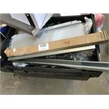 2 X BOXES OF MIXED FITTING – CABINET HANDLES, LG QTY OF SOFT CLOSE LIFT HINGES, DRAWER RUNNERS,