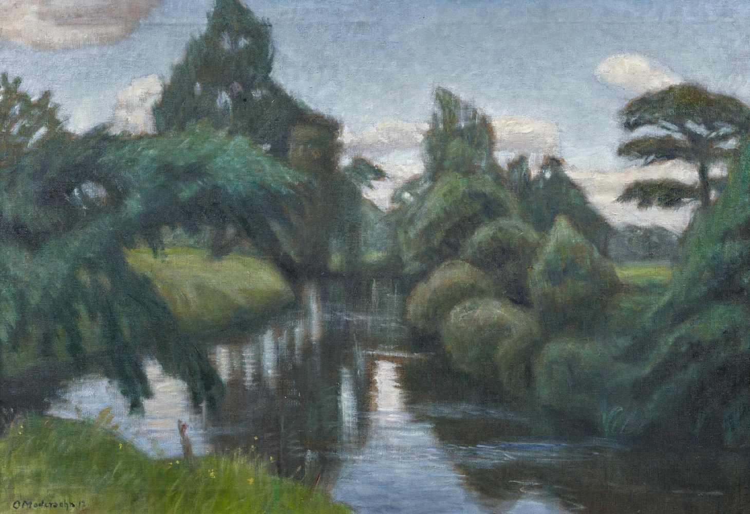 Los 51 - Modersohn, Otto1865 Soest - 1943 RotenburgSommerlandschaft an der Wümme. 1912. Oil on canvas. 64 x