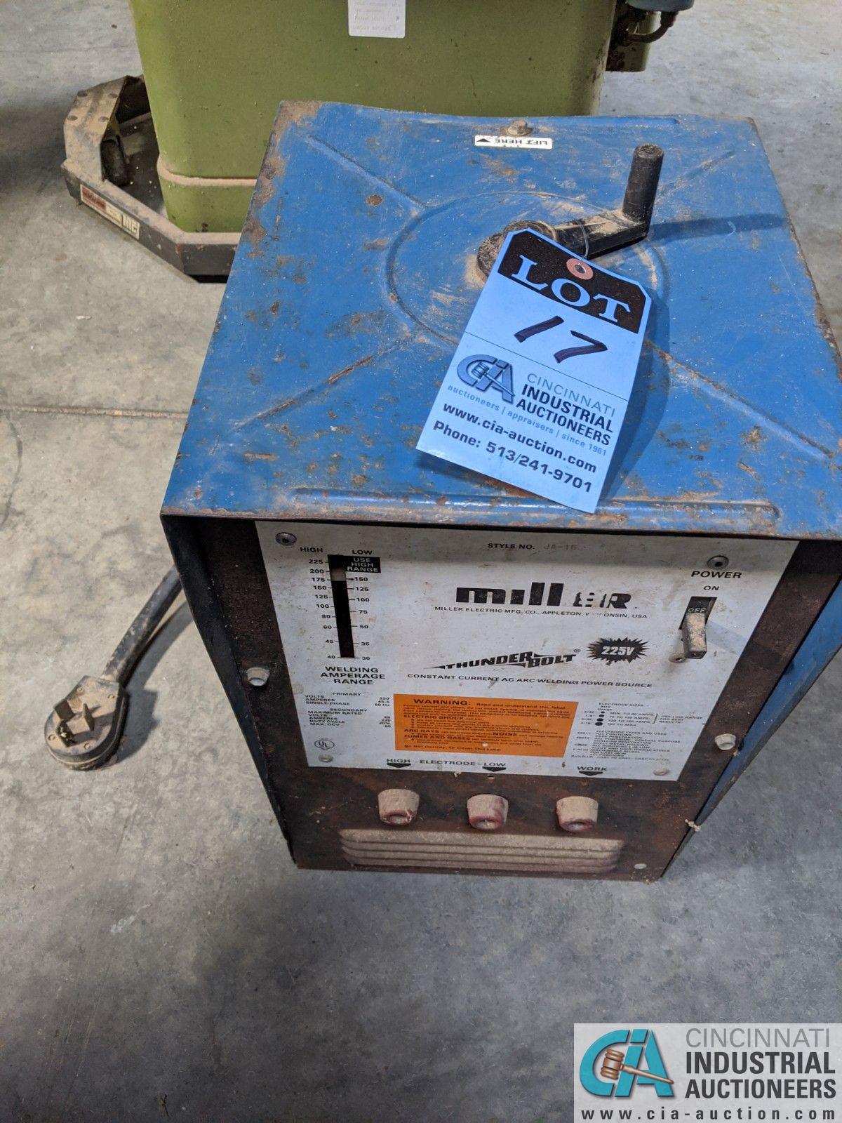 45 AMP MILLER THUNDERBOLT WELD POWER SOURCE (8635 East Ave., Mentor, OH 44060 - John Magnasum: 440-