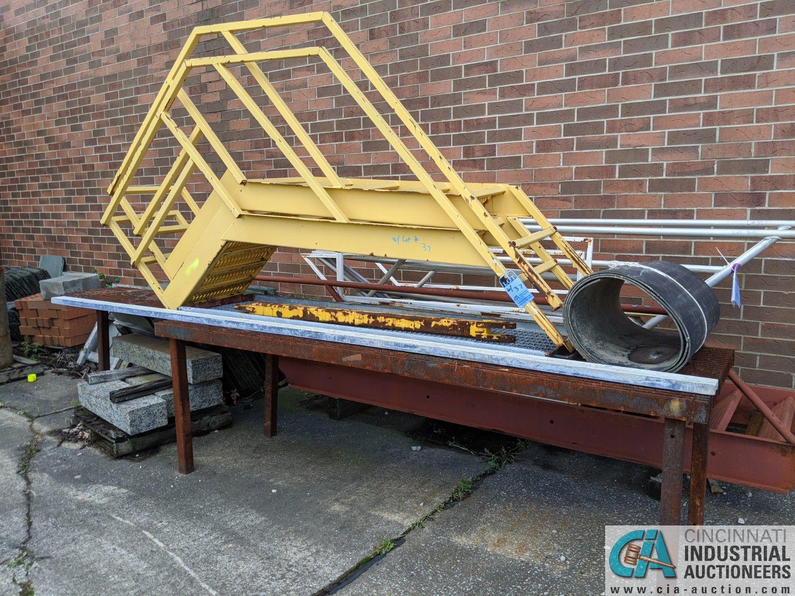 (LOT) ALUMINUM STEEL FRAME STEPS & STEEL TABLE (8635 East Ave., Mentor, OH 44060 - John Magnasum: - Image 3 of 3