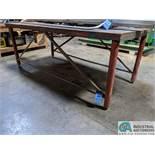 "48"" X 96"" STEEL FRAME TABLE (8635 East Ave., Mentor, OH 44060 - John Magnasum: 440-667-9414)"