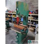 """12"""" GRIZZLY MODEL G3619 VERTICAL BAND SAW; S/N 08146, 3-1/2"""" X 23-3/4"""" TABLE, 5-HP, SINGLE PHASE ("""