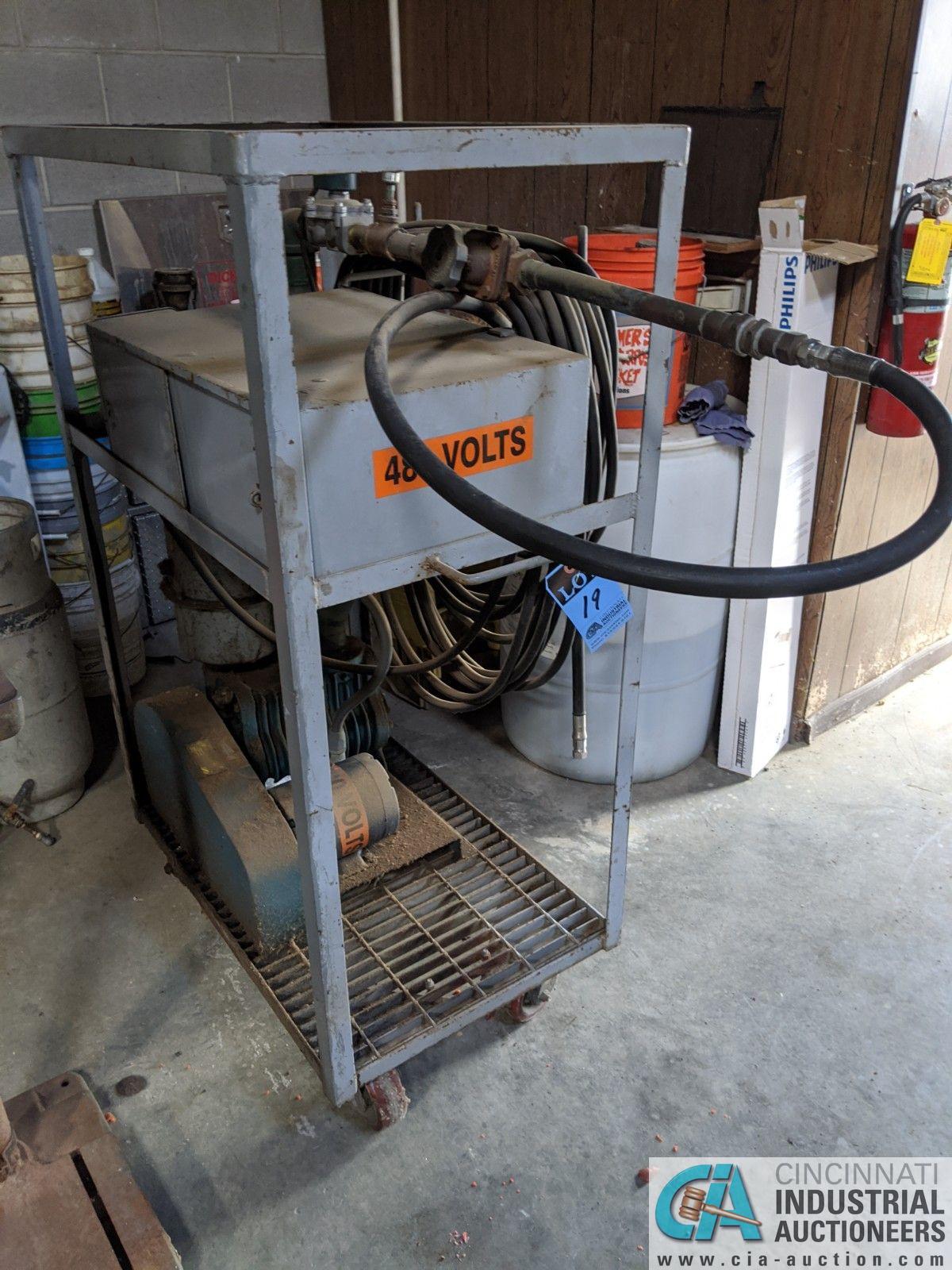 3-HP KINNEY VACUUM PUMP (8635 East Ave., Mentor, OH 44060 - John Magnasum: 440-667-9414)