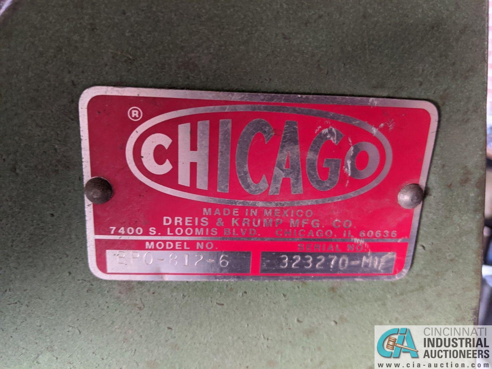 """96"""" CHICAGO MODEL BPO-812-6 FINGER BRAKE; S/N 323270-M (8635 East Ave., Mentor, OH 44060 - John - Image 4 of 5"""