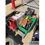 (LOT) SKID OF MAINTENANCE ITEMS: CLAMPS, HARDWARE, LIGHT, OTHER (8635 East Ave., Mentor, OH