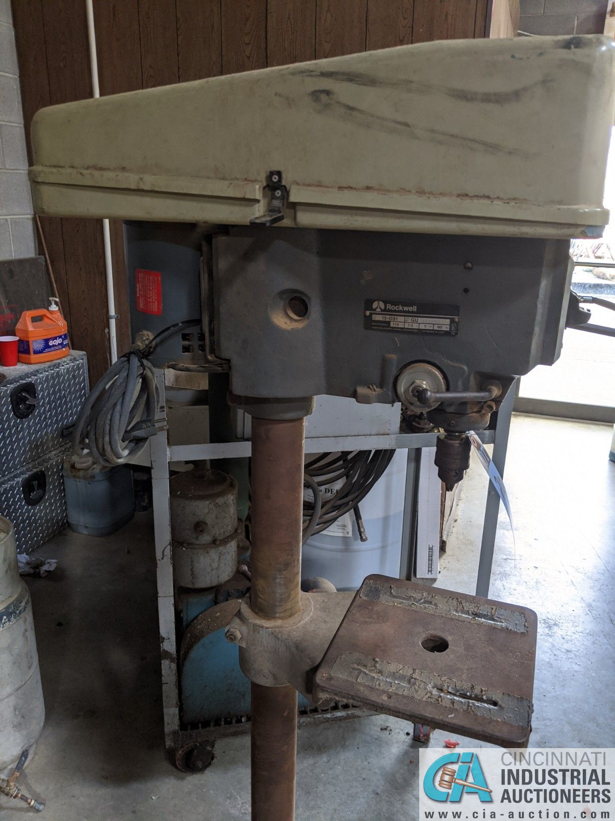 """15"""" ROCKWELL MODEL 15-091 SINGLE SPINDLE FLOOR DRILL; 10"""" X 10-1/2"""" TABLE (8635 East Ave., Mentor, - Image 2 of 4"""