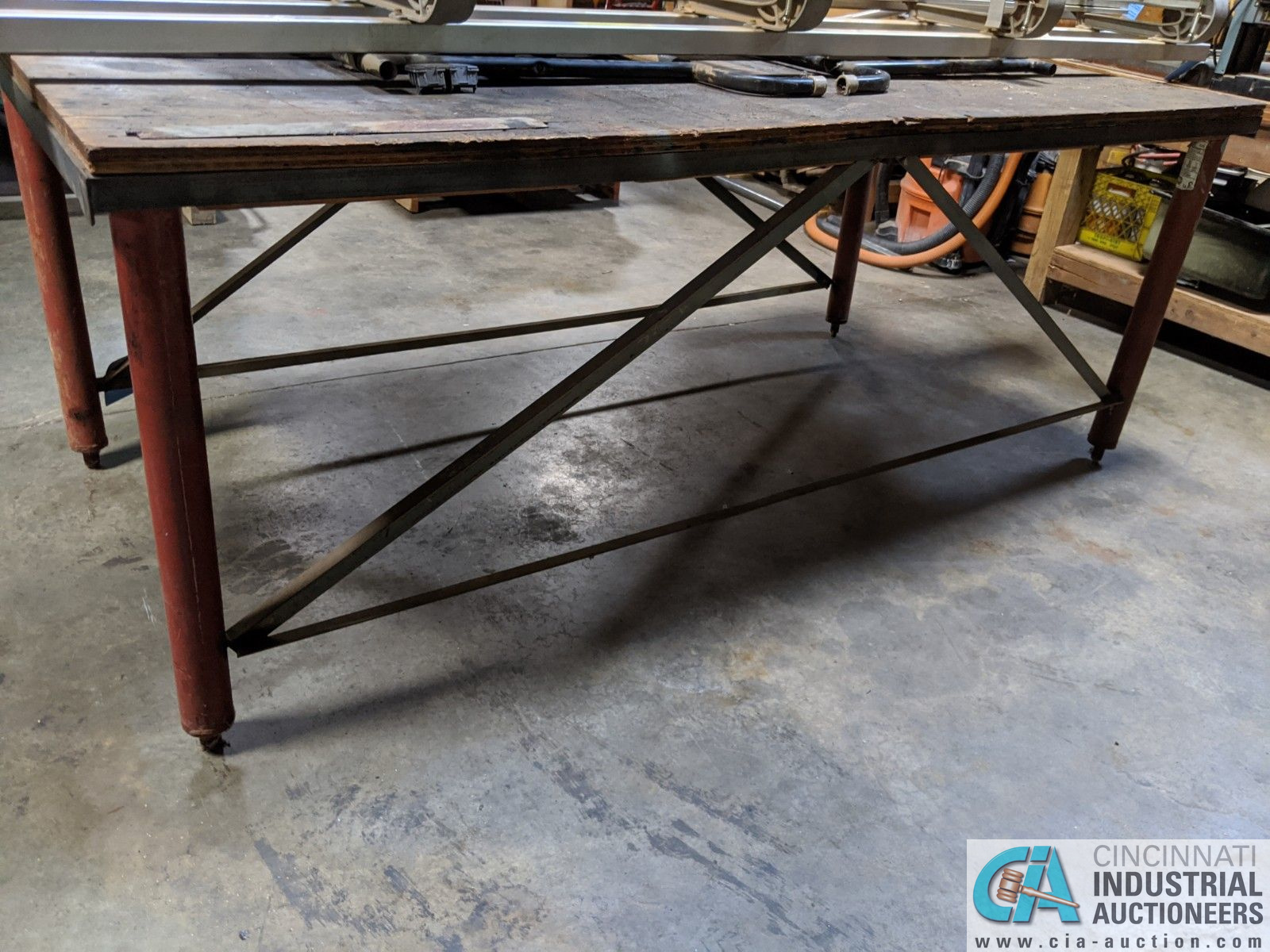 """48"""" X 96"""" STEEL FRAME TABLE (8635 East Ave., Mentor, OH 44060 - John Magnasum: 440-667-9414) - Image 2 of 2"""
