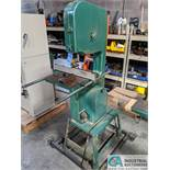 """16"""" GRIZZLY MODEL G1073 VERTICAL BAND SAW; S/N 055901, 17"""" X 17"""" TABLE, 2-HP, SINGLE PHASE (8635"""