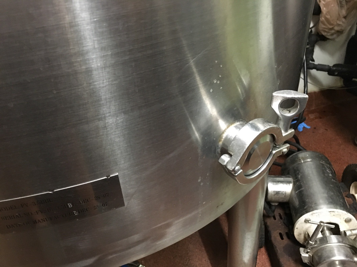 Lot 3 - 2007 3.5 BBL Stainless Steel Jacketed Fermenter   Subject to Bulk   Rig Fee: $175