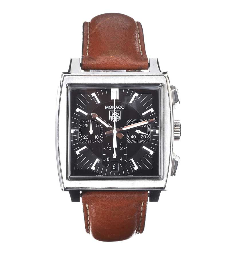 Lot 13 - TAG HEUER 'MONACO' CHONOGRAPH STAINLESS STEEL GENT'S WRIST WATCH