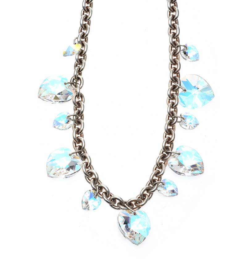 Lot 41 - SILVER-TONE BRACELET IN THE STYLE OF TIFFANY & CO. AND A SWAROVSKI NECKLACE