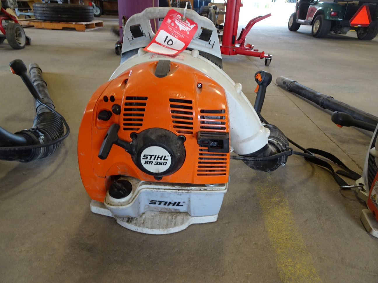 Lot 10 - STIHL BR350 GAS POWERED BACKPACK BLOWER (LOCATION: SHOP)