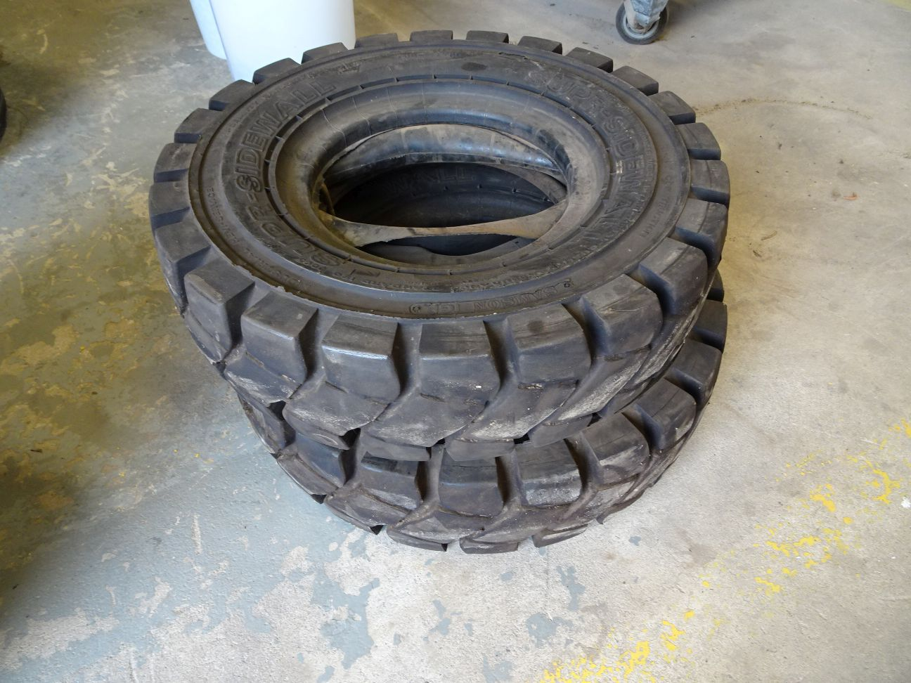Lot 33 - (2) SAMSON SUPER SIDE WALL TIRES WITH TUBES, SIZE 7.00X12 NHS (LOCATION: SHOP)