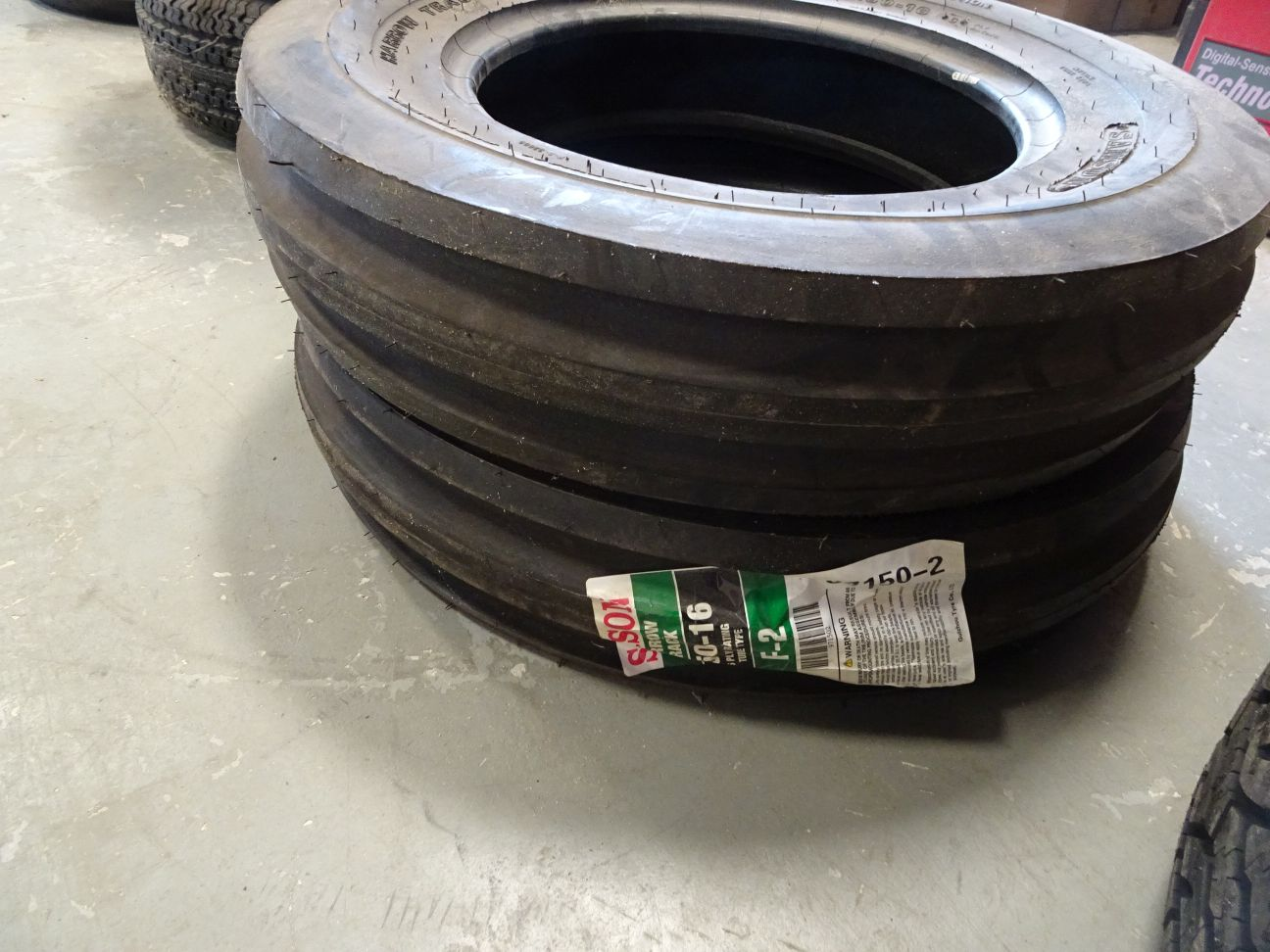 Lot 29 - (2) NEW SAMSON HARROW TRACK TIRES, SIZE 6.50/16 (LOCATION: SHOP)