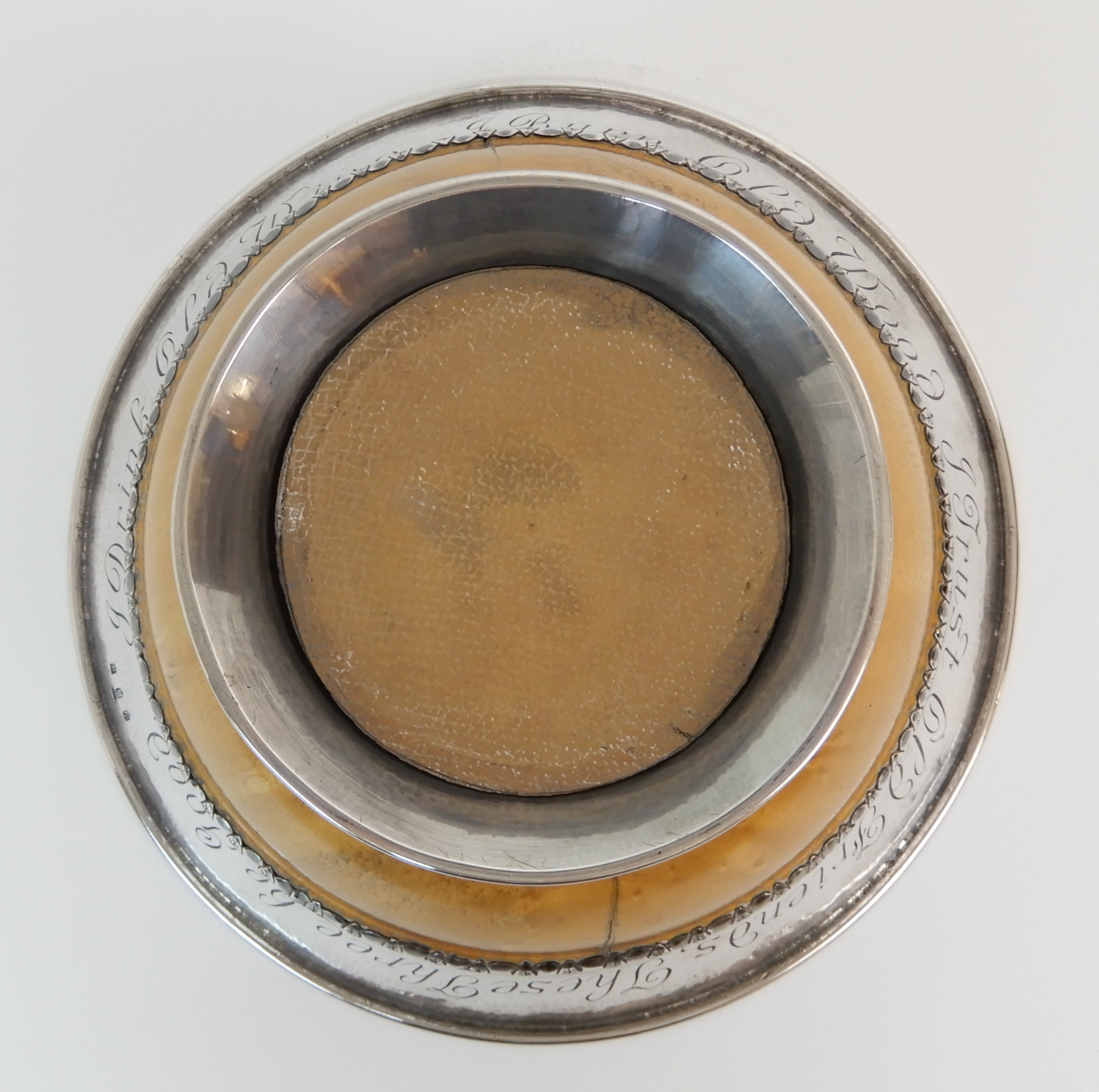 AN ARTS AND CRAFTS SILVER MOUNTED TREEN BOWL by Elizabeth Henry Kirkwood, Edinburgh 1947, or - Image 8 of 9