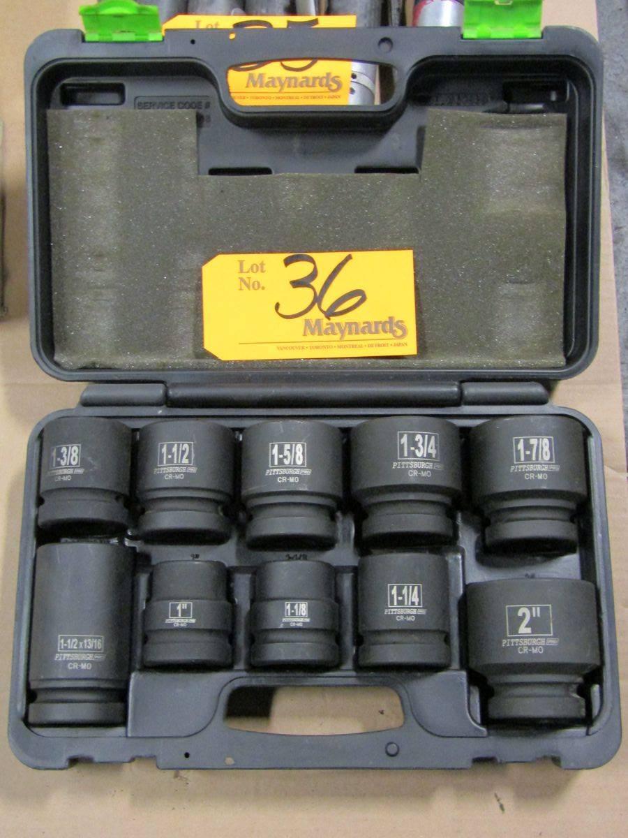Lot 36 - Pittsburgh Pro 10 Pc. SAE Impact Socket Set
