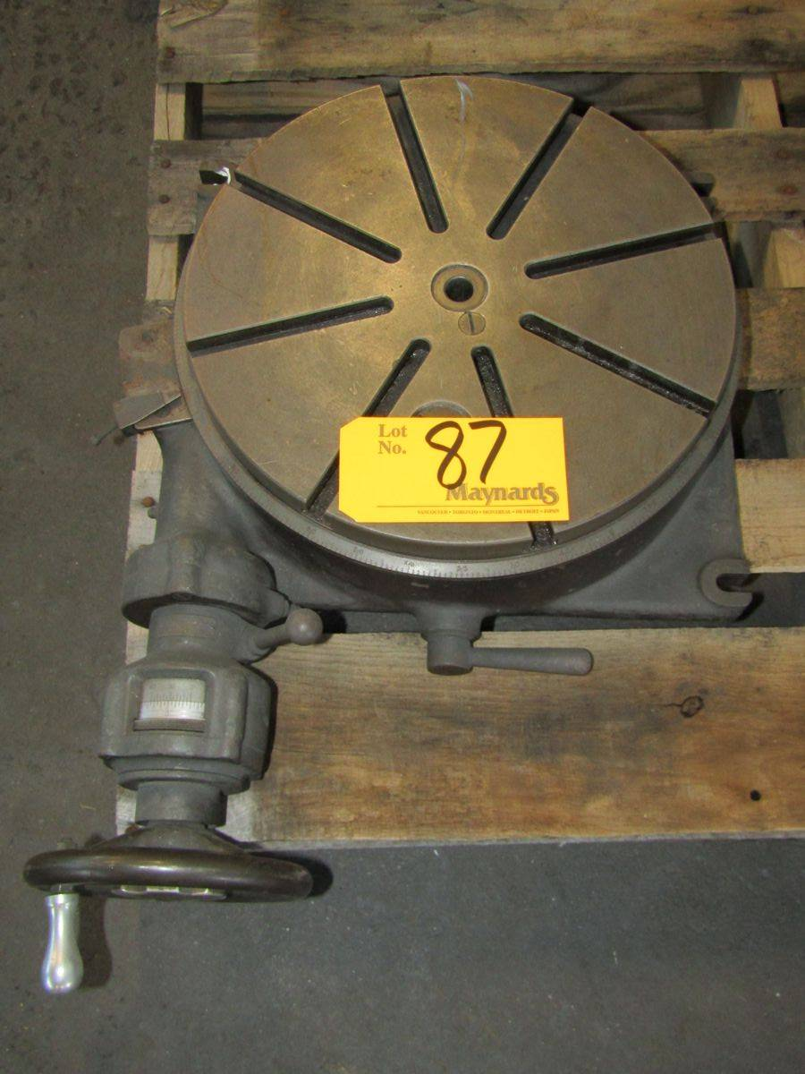 "Lot 87 - SIP PD-3 13-3/4"" Rotary Table"
