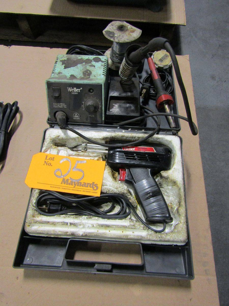 Lot 25 - Weller Soldering Irons