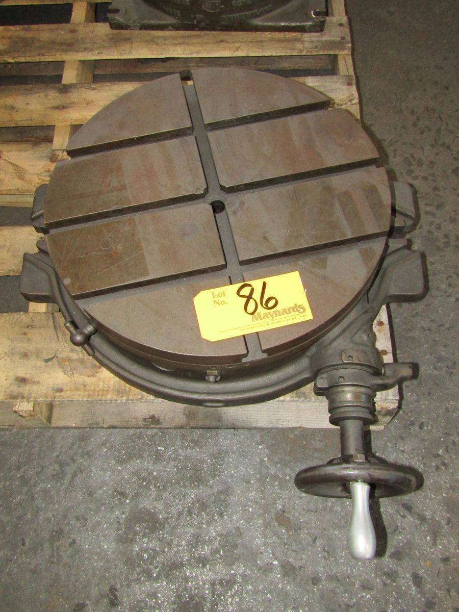 "Lot 86 - Brown & Sharpe 18"" Rotary Table"