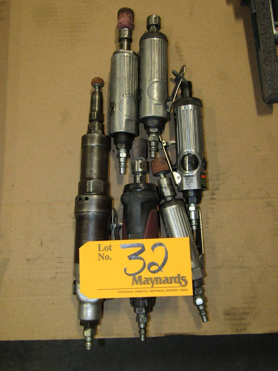 "Lot 32 - Pneumatic 1/4"" Die Grinders"