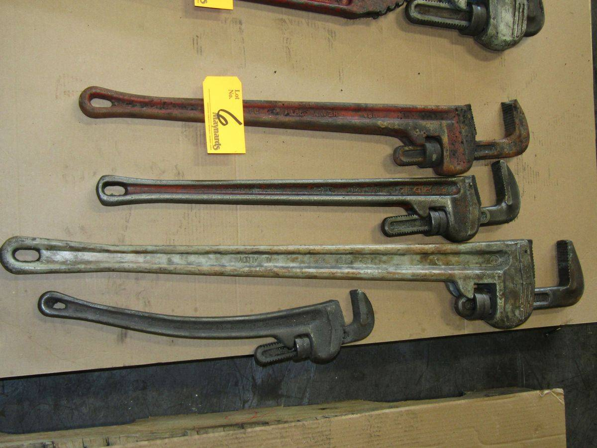 Lot 6 - Ridgid Pipe Wrenches