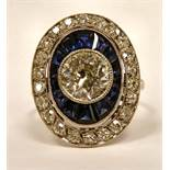 A white coloured gold ring,