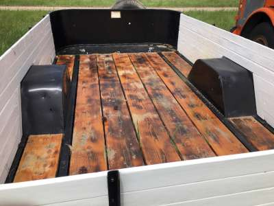 Lot 23 - Utility trailer, steel frame wood floor, 12ftx6.6ft, w/sides, single heavyduty axle, spare tire