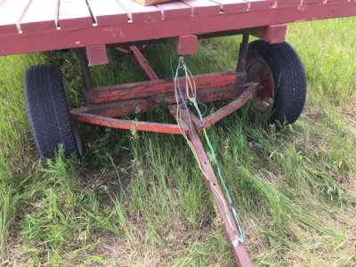 Lot 28 - Hay trailer w/working lights w/brand new wood deck